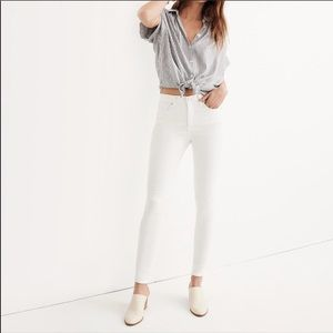 NEW Madewell 10 inch High Rise Skinny Jeans White